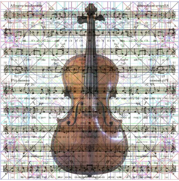 Matrice Note + Violino Stradivari + Spartito Inno spec. fig. 3